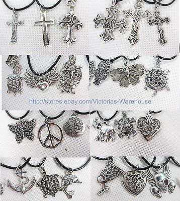 US Seller-0.50/pc lot of 100 hippie pendant necklaces wholesale jewelry