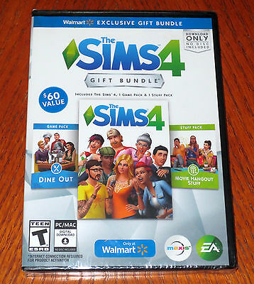 The Sims 4 Exclusive Gift Bundle Base Game Dine Out Movie Hangout Download Only