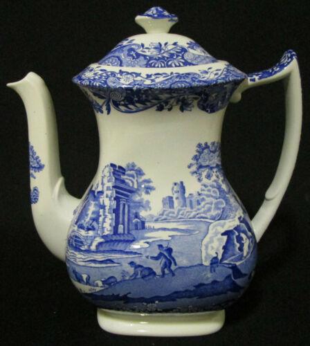 Spode Blue Italian Coffeepot / Coffee Pot