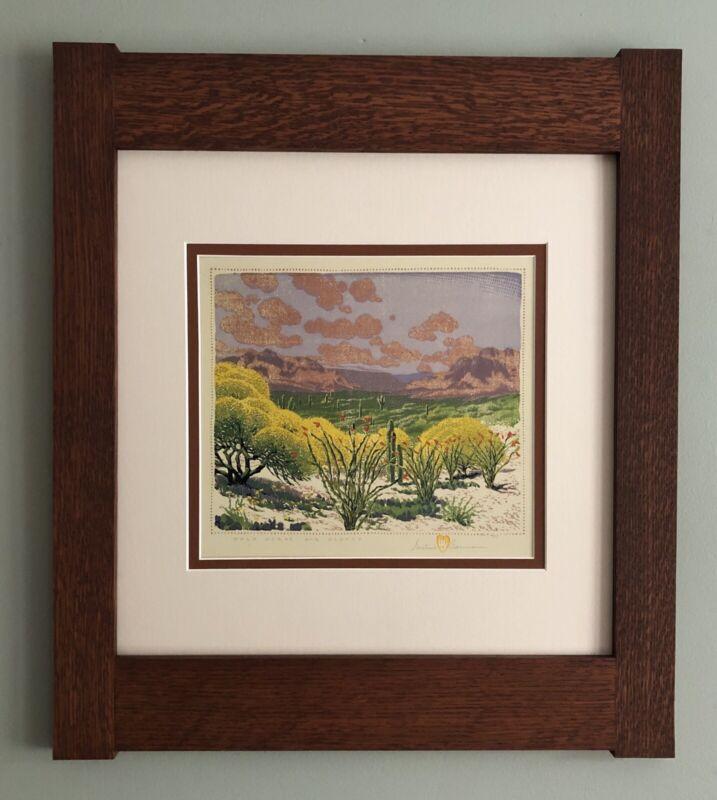 Mission Style Gustave Baumann Arts & Crafts Framed Print - Palo Verde