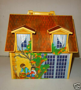 Belle maison transportable decor playmobil geobra 2005 for Maison transportable