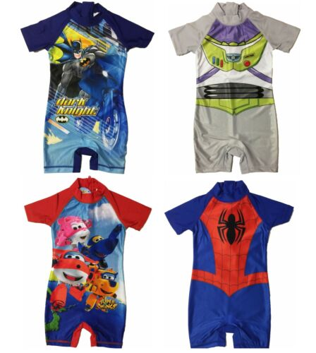 Boys Toy Story, Batman, Spiderman Superwings Sunsuit Swimsuit Swimwear