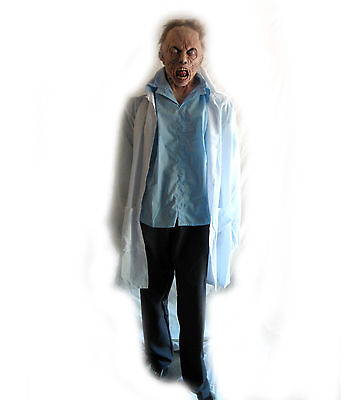 Zombie Scientist World War Z Ghoulish Productions Adult Halloween Mask & Costume (Halloween Wars Zombie)