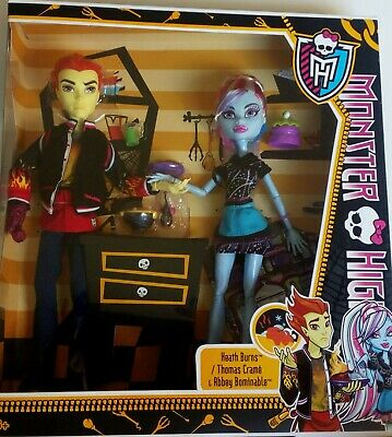 Monster High Heath Burns Abbey Bominable Double The Recipe Doll 2012 NEW...