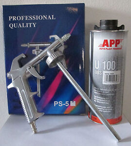1 pistolet pulverisation 2 cartouches anti gravillon noir peinture automobile ebay - Pistolet peinture automobile ...
