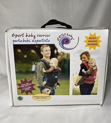 Ergo Baby Organic Carrier, Red With Extenders And Suck Pads Original Box