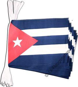 5 7m fahnenkette flaggenkette girlande kuba fahnen flaggen Kuba dekoration