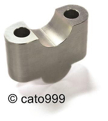 MOTACC Lenkererhöhung für 22 mm Lenker (1 Paar) silber eloxiert