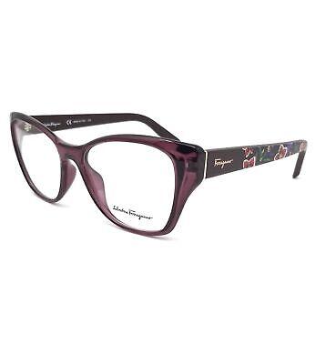 Salvatore Ferragamo Eyeglasses SF2827 606 Wine Cat Eye Women 53x16x140