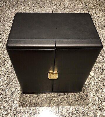 SCATOLA DEL TEMPO Black Leather 9 Large Automatic Watch Winder Box Del Tempo Leather Watch Winder