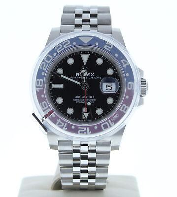 Rolex 126710 GMT MASTER II STAINLESS STEEL WATCH BLACK DIAL & PEPSI BEZEL UNUSED