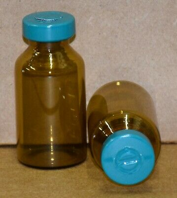 Usp 20 Ml Amber Sterile Vial With Turquoise Center Tear Seal 10 Pack