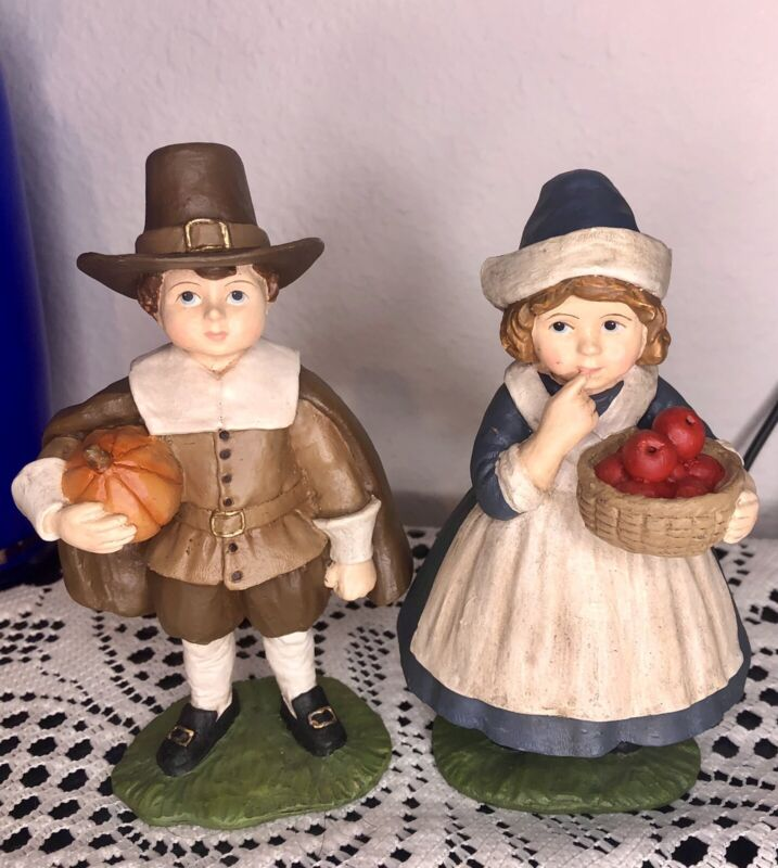 Bethany Lowe Collectable Thanksgiving Couple Figurines