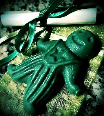 Money Drawing - Wax Spell Poppet - Handmade, Witchcraft, Hoodoo, Wicca, Wax Doll