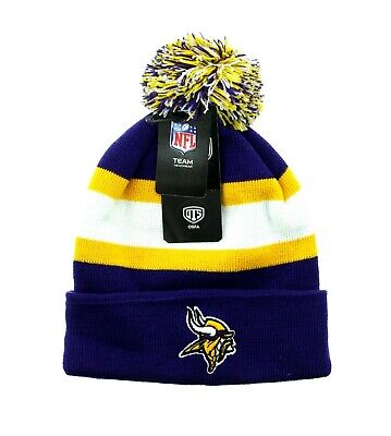 Minnesota Vikings Winter Hat (OTS Minnesota Vikings Hat, NFL Knit Pom-Pom Winter Cap, Adult One)