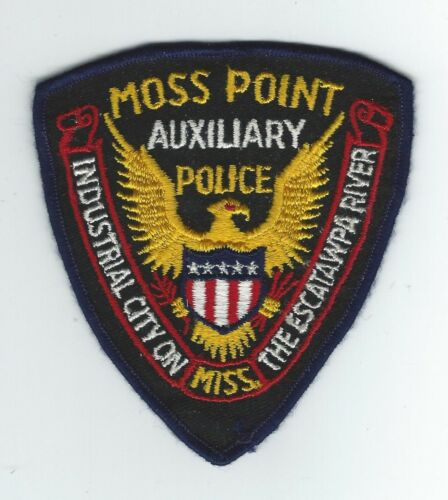 VINTAGE MOSS POINT, MISSISSIPPI AUX. POLICE (CHEESE CLOTH BACK) patch