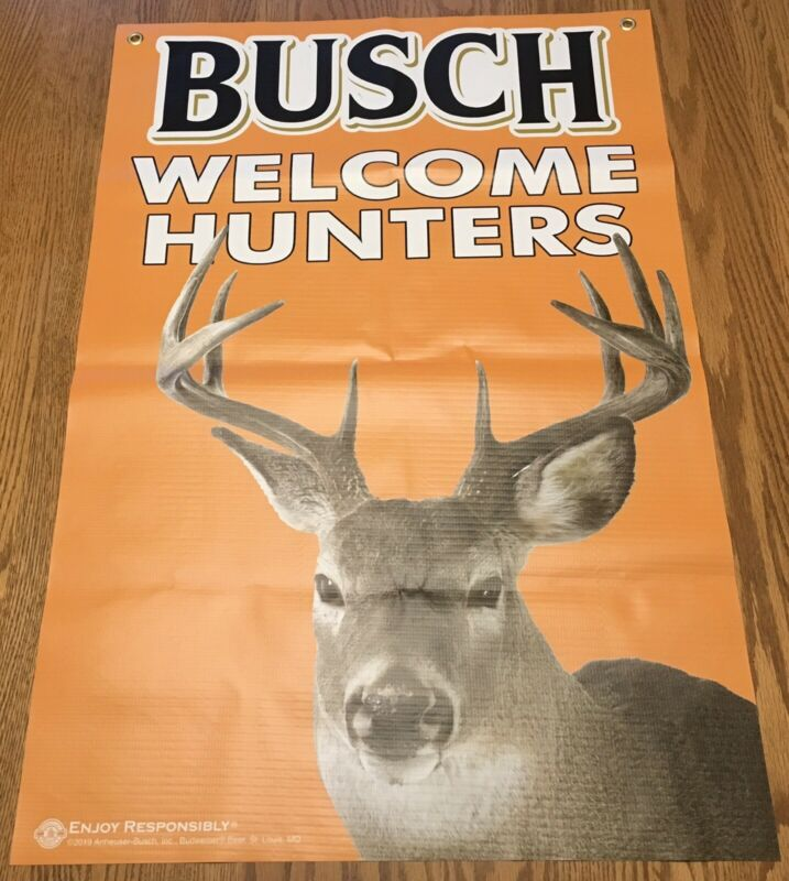 Welcome Hunters Busch Banner