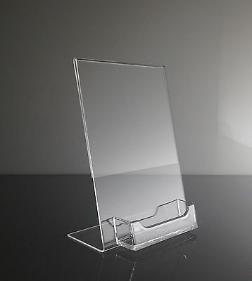 1 5 X 7 Acrylic Sign Display Picture Frame With Business Card Holder