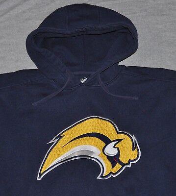 Buffalo Sabres Hoodie Sweatshirt Men's MEDIUM M Hockey NHL Navy Blue Stitched Navy Blue Nhl Sweatshirt