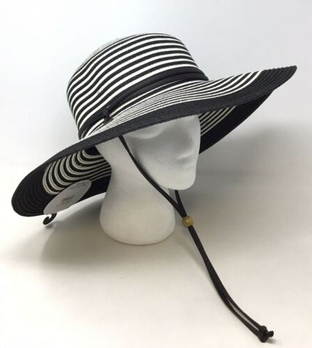 Sloggers 422BW Medium Women's Black & White Wide Brim Hat