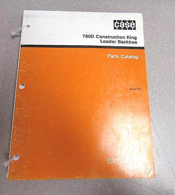Case 780d Construction King Loader Backhoe Parts Catalog Manual Bur 8-4182 1991