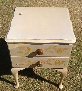 BEDSIDE TABLE WITH 2 DRAWERS NEEDS A REVAMP Smeaton Grange Camden Area Preview