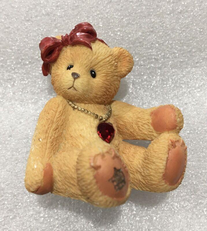 1996 Enesco Cherished Teddies Little Sparkles July Birthstone Bear P. Hillman
