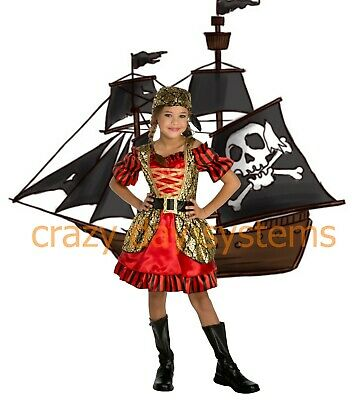 Pretty Girl Halloween Costumes (Petite Pretty Pirate Kids Girl Halloween Dress Up Role play Costume Sz 4 6)