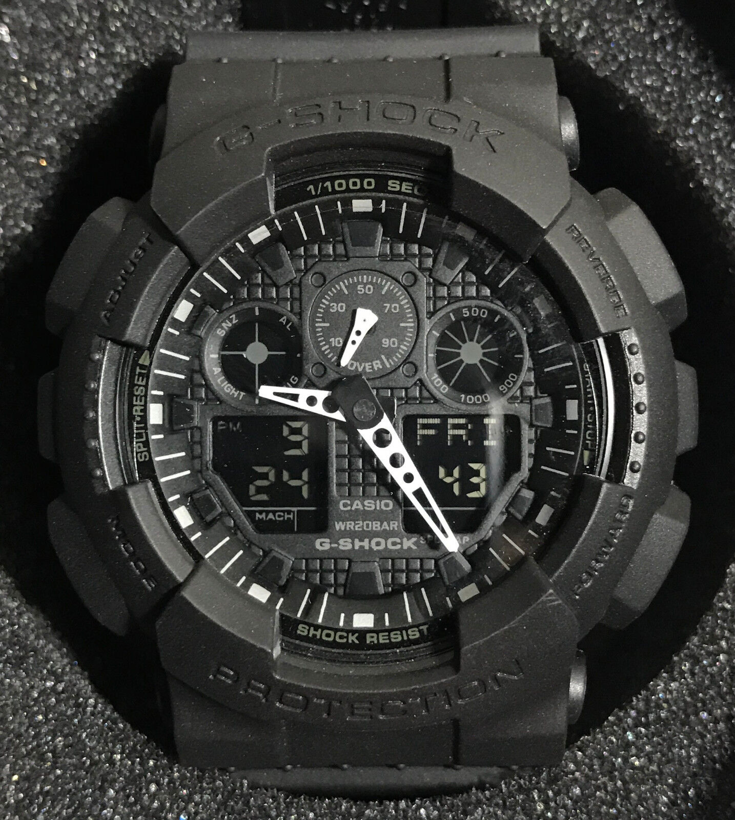 Mens Watches - Casio G-Shock Mens Watch GA100-1A1 Black Sport Watch