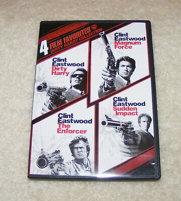 Dirty Harry Collection 4 Film Favorites DVD Magnum Force Enforcer Sudden Impact