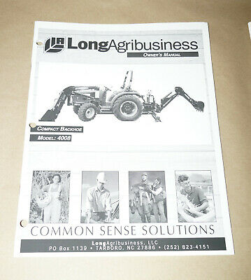 2001 Long Agribusiness Model 4008 Compact Backhoe Parts Manual Pn 751392