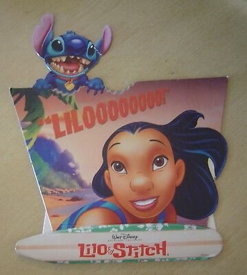 DISNEY STORE LILO  & STITCH PROMOTIONAL STANDEE UNUSED RARE