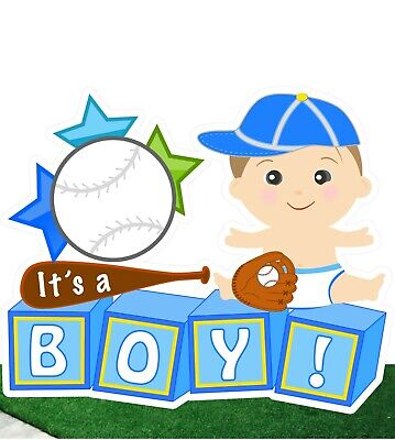 Welcome Baby Yard Signs (Welcome Baby It's a Boy Yard Announcement Sign - Baseball Lawn Decoration Art)
