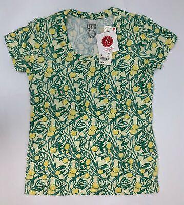 Uniqlo Haibara Short Sleeve Lemon Tree T-Shirt Women Size Small Yellow 7N201J