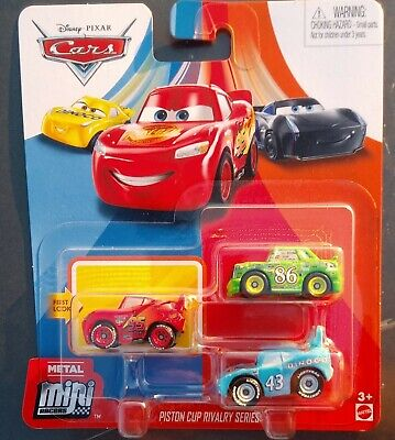 2020 DISNEY PIXAR CARS METAL MINI RACERS PISTON CUP RIVALRY SERIES LIGHTNING +