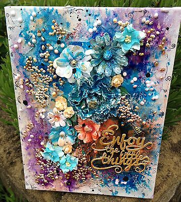 Original, Mixed Media Canvas entitled 'Make Time For The little Things' 12 x 9