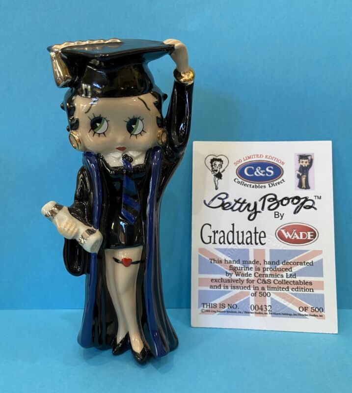 2001 Wade Porcelain BETTY BOOP GRADUATE Figurine LE Only 500  Made Rare
