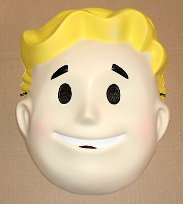 NEW* Exclusive Vault Boy Promo Fallout Mask Bethesda Costume Fall out 76](Fallout Vault Boy Costume)