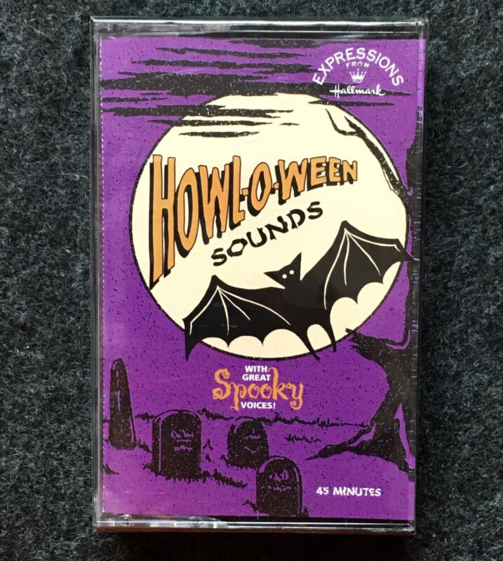Vintage 1980s NOS Hallmark Halloween Spooky Sounds Cassette Tape Howl-O-Ween F