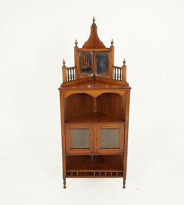 Post 1950 Cabinet Standing Vatican, Safekeeper Footed Mirror Jewelry Cabinet
