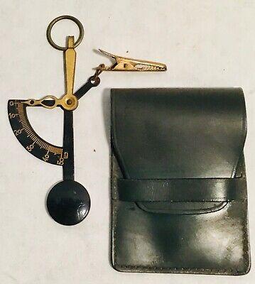vintage pocket miniature mini scale M 500 grams + green pochette etui bag