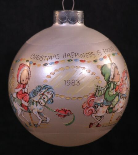 Vintage Hallmark 1983 Betsey Clark Glass Ball Christmas Keepsake Ornament