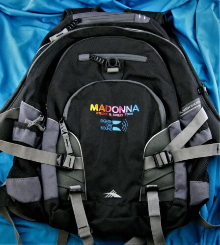 MADONNA STICKY & SWEET TOUR TALENT CREW PROMO ONLY BACKPACK High Sierra RARE