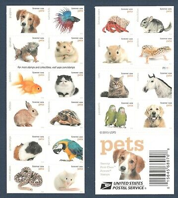 5106-5125 (5125a) Pets Booklet Of 20 Mint/nh FREE SHIPPING