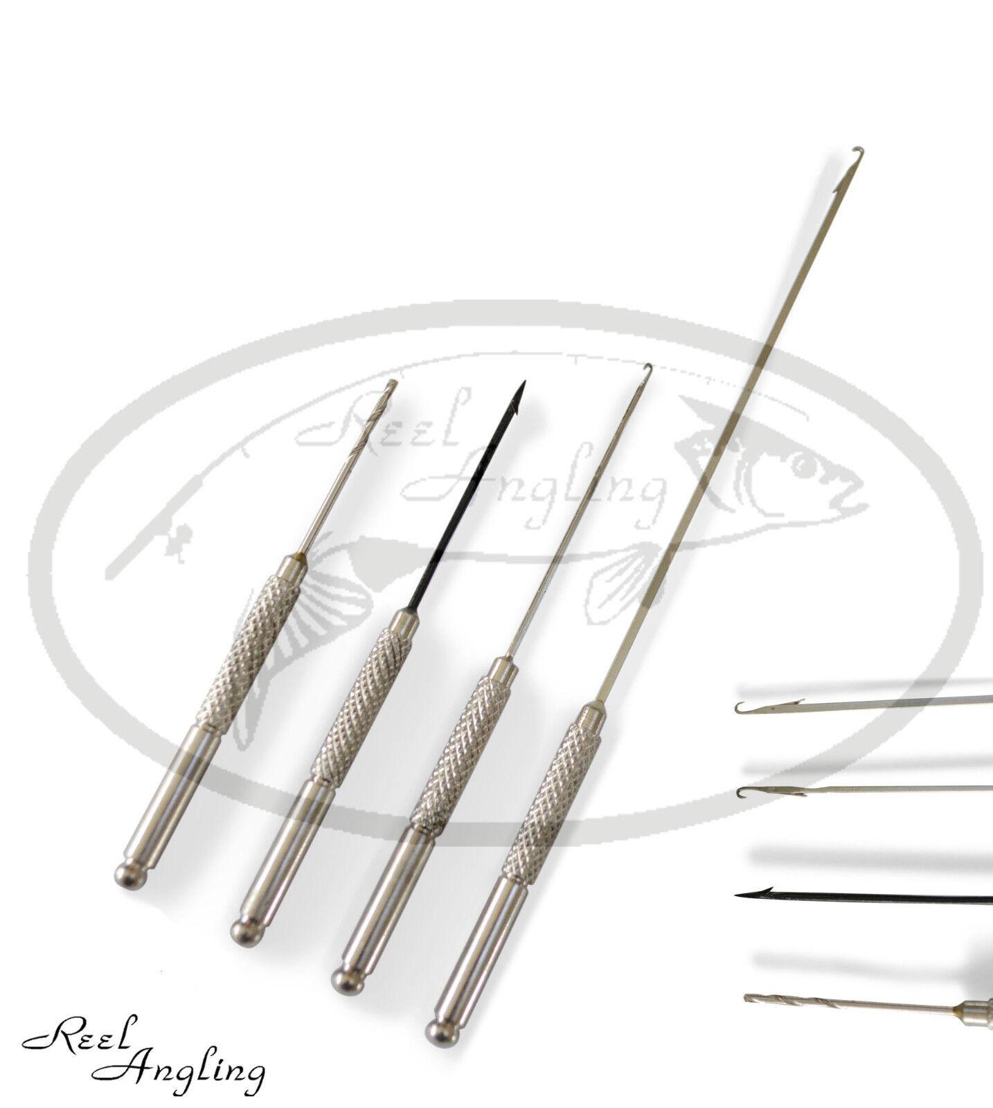NGT Baiting Needle Set 4 Piece Hook Drill Boilie Stringer Bait NGT Carp Fishing