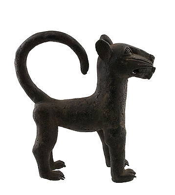 Large Panther Leopard Kingdom of Benin Nigeria 27cm Art African -991
