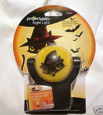 Halloween Cat Night Light (HALLOWEEN Projectables LED Night Light Cute Spooky Black Cat Bats Pumpkins)
