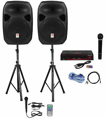 "Rockville Dual 12"" ipad/iphone/Android/Laptop/TV Youtube Karaoke Machine/System"