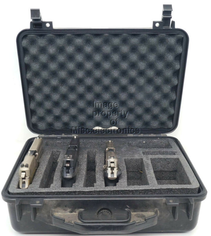 Pelican 1500 Case With Custom Foam (Black)Great For Handguns OR Cameras
