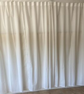 White curtains x 14 ... each one 2500h x 1400 wide as new display